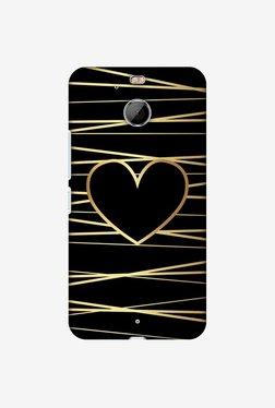 Amzer Golden Heart Ribbon Designer Case For HTC Bolt/10 Evo