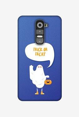 Amzer Trick Or Treat White Ghost Halloween Designer Case For LG G2