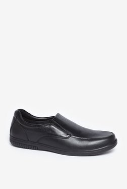 SOLEPLAY By Westside Black Genuine Leather Formal Loafers