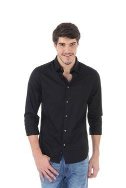 Flying Machine Black Full Sleeves Slim Fit Shirt