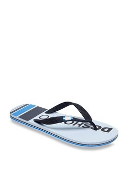 8fc09d74b DC Spray Graffik Navy   White Flip Flops