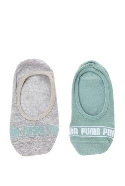 Puma Mint Green   Grey Cotton Footies - Pack ... 14bbc859f8650