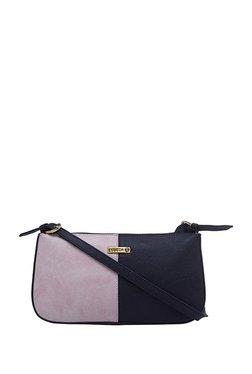 Esbeda Light Pink & Black Color Block Shoulder Bag
