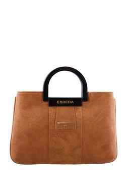 Esbeda Camel Brown Textured Handbag