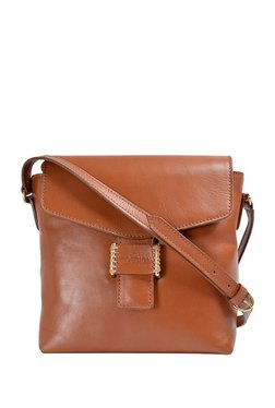 Hidesign Butterscotch 02 Tan Solid Leather Sling Bag