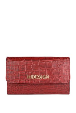 Hidesign Carly W1 Red Textured Leather RFID Flap Sling Bag