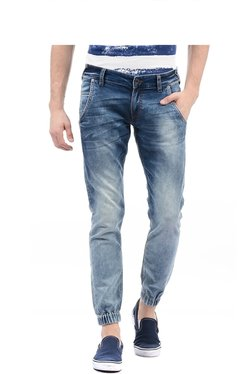 Pepe Jeans Dark Blue Heavily Washed Jogger Jeans