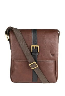 Hidesign Gable 02 Brown Leather Flap Sling Bag