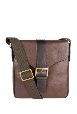 Hidesign Bleaklow 03 Brown Leather Flap Sling Bag