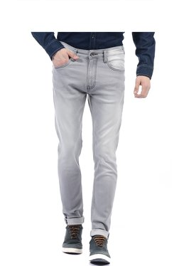 Pepe Jeans Light Grey Slim Fit Lightly Washed Jeans