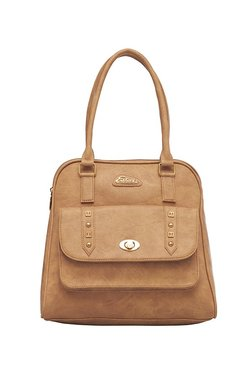 Esbeda Light Brown Distressed Handbag