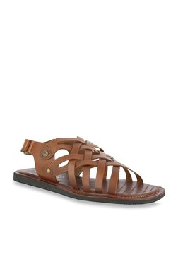 Alberto Torresi Dorada Dark Tan Back Strap Sandals