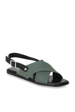 Mode By Red Tape Green & Black Back Strap Sandals