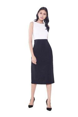 AND Black & White Regular Fit Midi Dress