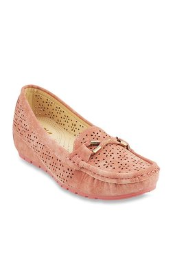 Mochi Blush Pink Wedge Loafers