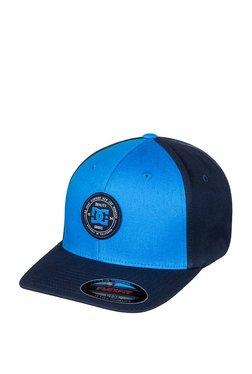 DC Curve Breaker Navy Blue Color Block Cotton Baseball Cap