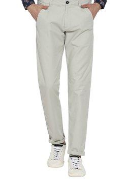 Rare Rabbit Light Grey Slim Fit Trousers