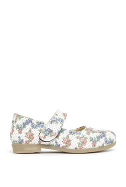 Zudio White Floral Mary-Jane Shoes