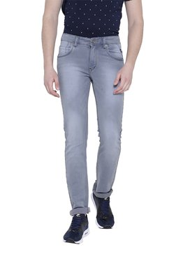 Duke Grey Lightly Washed Mid Rise Jeans