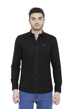 Duke Black Full Sleeves Slim Fit Shirt