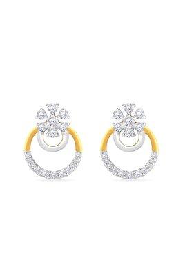 Malabar Gold And Diamonds 18k 0 17 Ct Diamond Earrings