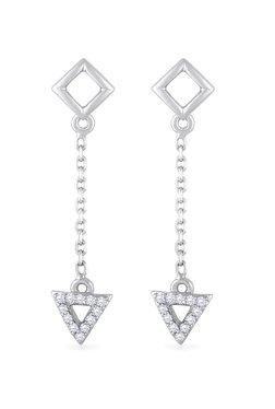 884665cd7 Malabar Gold and Diamonds 950 Platinum & 0.126 ct Diamond Earrings