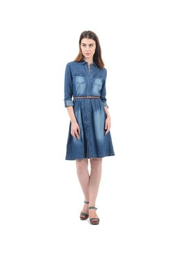 Elle Blue Knee Length Dress