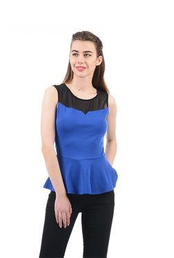 Elle Royal Blue Regular Fit Top