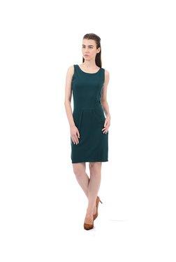 Elle Green Knee Length Dress