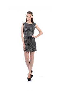 Elle Black & White Polka Dot Mini Dress