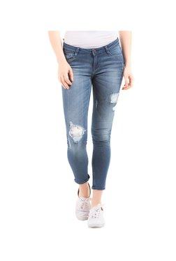 Elle Blue Skinny Fit Distressed Jeans - Mp000000002519500