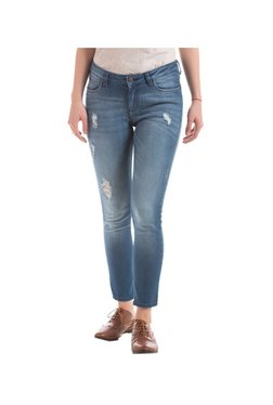 Elle Blue Skinny Fit Distressed Jeans - Mp000000002520101