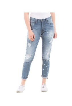 Elle Blue Skinny Fit Distressed Jeans - Mp000000002520113
