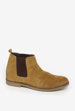 Zudio Tan Suede Chelsea Boots
