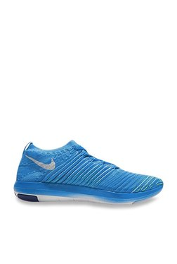 3b5f123ce6a Nike Free Transform Flyknit Blue Glow Running Shoes