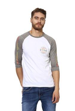 bbfd9d226dfb2 Red Tape White Raglan Sleeves T-Shirt