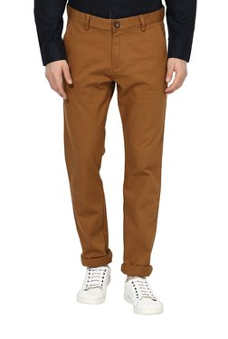 Red Tape Brown Slim Fit Trousers