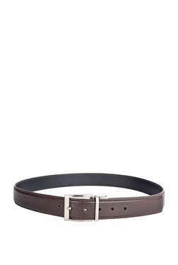 5efe0037dd54 Hidesign Antonio Brown   Black Solid Leather Reversible Belt