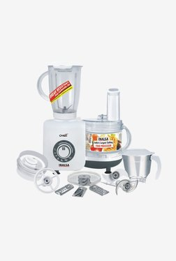 Inalsa Craze 700 Watt 3 Jar Food Processor (White/Grey)