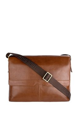 Hidesign Helvellyn 01 Tan Paneled Leather Laptop Messenger Bag 45cd72a03253a