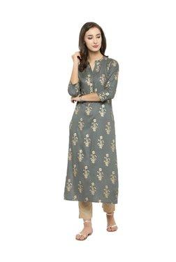 321ef45538 Varanga Grey Printed Kurta