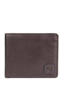 Hidesign 278-L107F Chocolate Brown Solid RFID Bi-Fold Wallet
