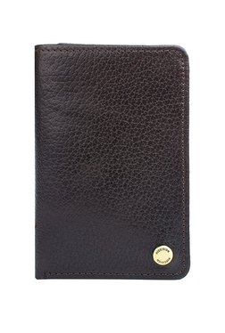 Hidesign TF-02 SB Dark Brown Solid RFID Tri-Fold Wallet