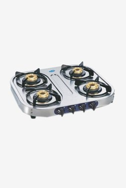 Glen LPG Stove 1044 SS BB 4 Burner Gas Cooktop (Steel)