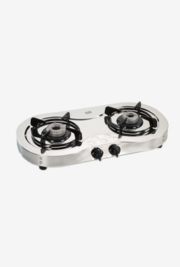 Glen LPG Stove 1025 SSAL 2 Burner Gas Cooktop (Steel)