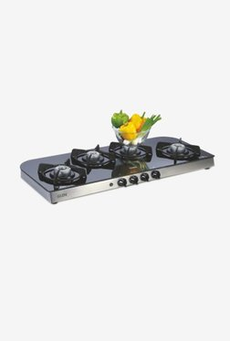 Glen LPG Stove 1049 GT AI 4 Burner Gas Cooktop (Black)