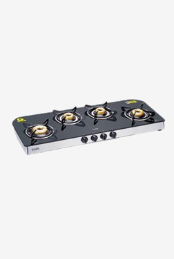 Glen LPG Stove 1049 GT Forged BB 4 Burner Gas Cooktop (Black)