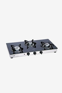 Glen LPG Stove 1033 GT XLAI 3 Burner Gas Cooktop (Black)