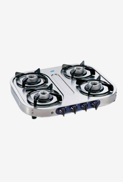 Glen LPG Stove 1044 SSAL AI 4 Burner Gas Cooktop (Steel)