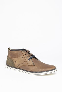 SOLEPLAY By Westside Tan Genuine Leather Derby Shoes